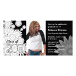 Clase de la flor blanca 2011 de la tarjeta de la f tarjeta fotográfica personalizada