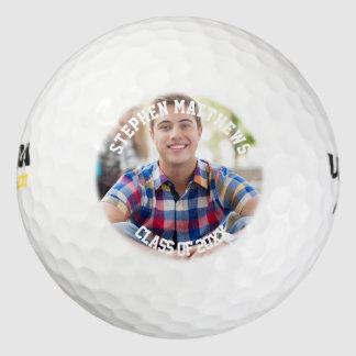 Clase de la foto 2016 de la graduación pack de pelotas de golf