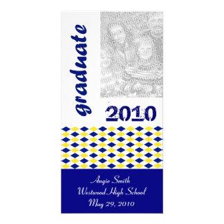 Clase de la foto graduada 2010 tarjetas personales