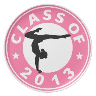 Clase de la gimnasia 2013 plato para fiesta