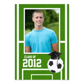 """Clase de la graduación 2012 del fútbol invitación 5"""" x 7"""""""