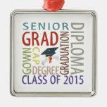 Clase de la graduación 2015 ornamente de reyes