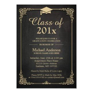 """Clase de la graduación con clase elegante 2016 del invitación 5"""" x 7"""""""