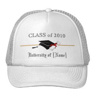Clase de la graduación de 2010 - casquillo de golf gorros bordados