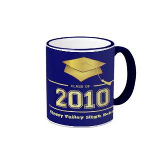 Clase de la graduación de 2010 tazas - azul y oro