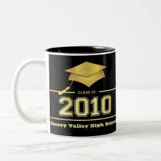 Clase de la graduación de 2010 tazas - negro y oro