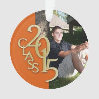 Clase de la graduación de 2015 anaranjados y de