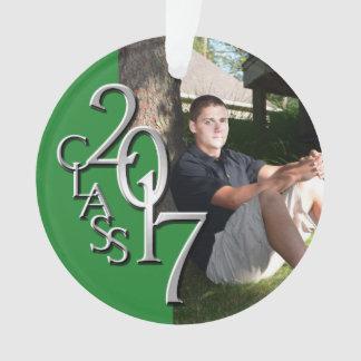 Clase de la graduación de 2017 verdes y de foto de