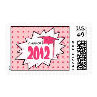 Clase de la graduación de franqueo del arte pop timbre postal