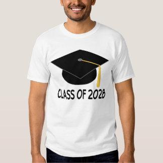 Clase de la graduación de la camiseta 2028 polera