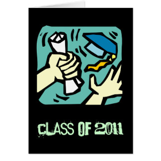Clase de la graduación de la tarjeta 2011 de felic