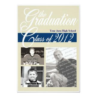 """Clase de la graduación de la tri foto 2012 invitación 5"""" x 7"""""""