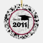 Clase de la graduación de salpicadura negra de la  ornamento para arbol de navidad
