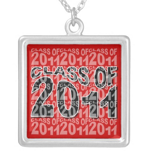 Clase de la graduación del casquillo 2011 del coll pendientes personalizados