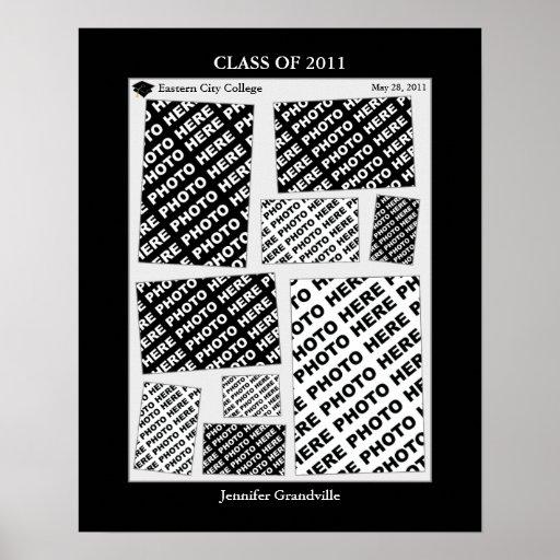 Clase de la graduación del collage 2011 de la foto impresiones