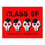 Clase de la graduación del cráneo de la invitación