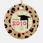 Clase de la graduación del estampado leopardo 2010 ornamento de navidad