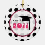 Clase de la graduación del ornamento 2011 del luna adorno para reyes