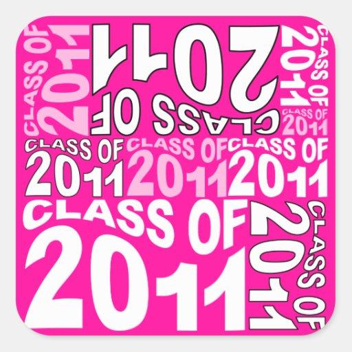 Clase de la graduación del pegatina 2011 4