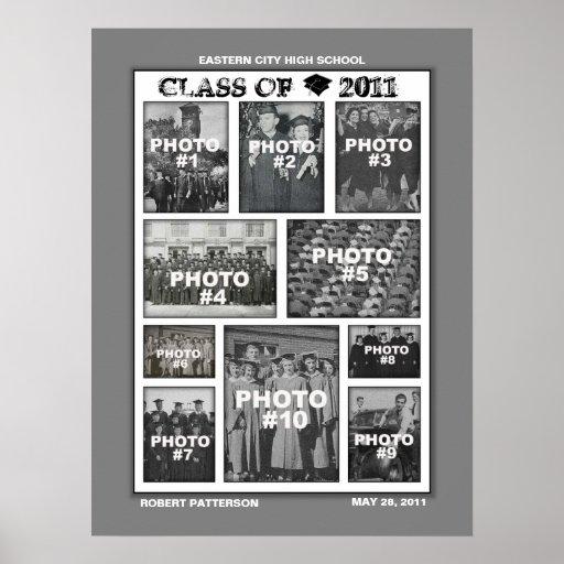 Clase de la graduación del poster 2011 del collage