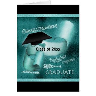 Clase de la graduación del trullo elegante 20xx tarjeta de felicitación
