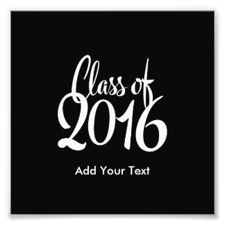 Clase de la graduación retra elegante 2016 fotografía