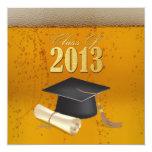 Clase de la graduación temática 2013 de la cerveza invitaciones personalizada