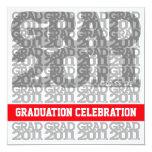 Clase de la invitación 2011 de la fiesta de invitación 13,3 cm x 13,3cm