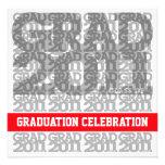 Clase de la invitación 2011 de la fiesta de gradua
