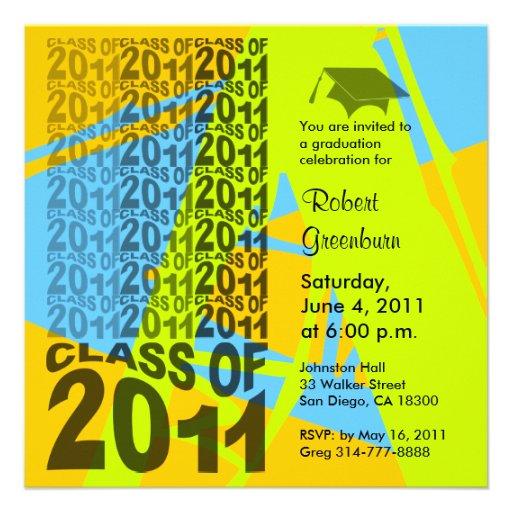 Clase de la invitación 2011 de la graduación TXD28
