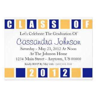 Clase de la invitación 2012 (cajas del azul/del or