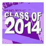 Clase de la invitación 2014 de la graduación