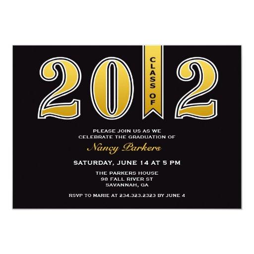 Clase de la invitación plana 2012 de la estola del