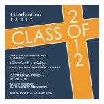 Clase de la invitación plana 2012 de la graduación invitación 13,3 cm x 13,3cm