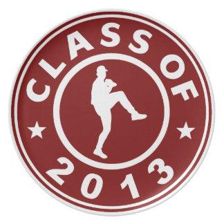 Clase de la jarra 2013 del béisbol plato de comida