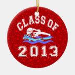 Clase de la natación 2013 del chica ornaments para arbol de navidad