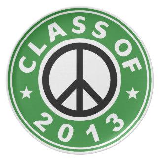 Clase de la paz 2013 plato