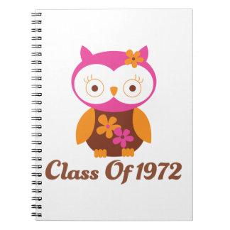 Clase de la reunión 1972 cuaderno