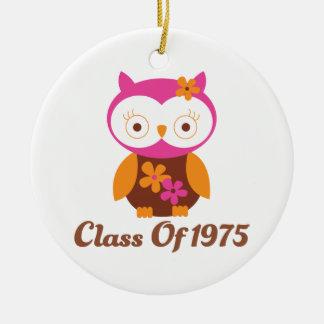 Clase de la reunión 1975 adorno redondo de cerámica