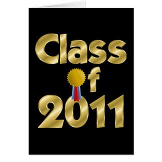 Clase de la tarjeta 2011 de felicitación del oro