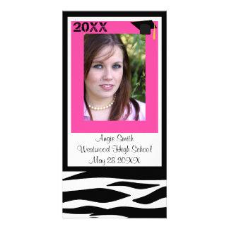 Clase de la tarjeta 2011 de la foto de la cebra tarjeta personal con foto