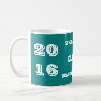 Clase de la taza 2016 de café de la graduación del
