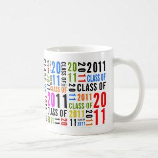 Clase de la taza multicolora 2011