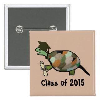 Clase de la tortuga del botón 2015 pin cuadrado