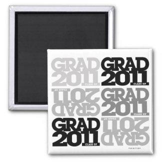 Clase de las graduaciones de imán de 2011 grises