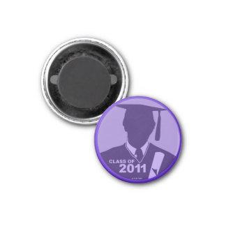 Clase de las graduaciones de la púrpura 2011 del imán redondo 3 cm