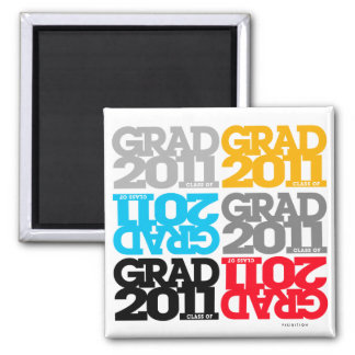 Clase de las graduaciones de los colores 2011 del imán cuadrado