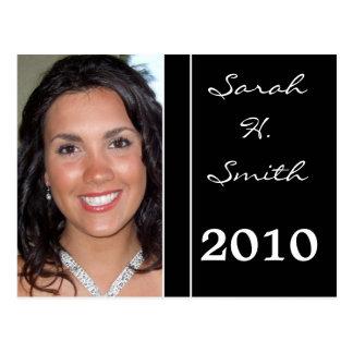 Clase de las invitaciones 2009 de la graduación postal