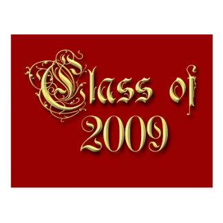 Clase de las invitaciones 2009 de la graduación postales