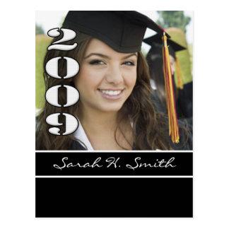 Clase de las invitaciones 2009 de la graduación tarjetas postales